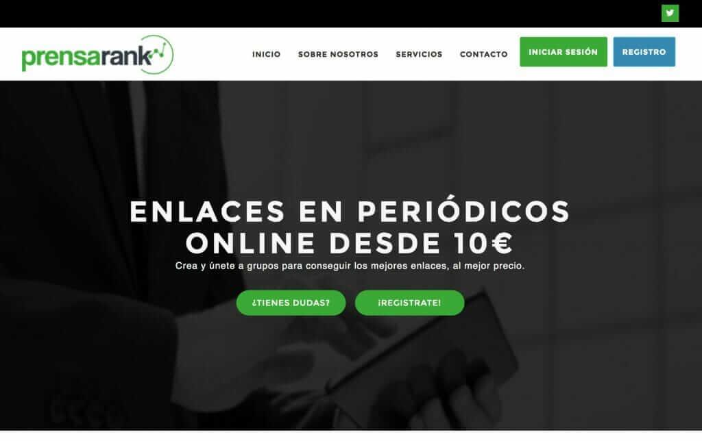 PrensaRank: Grupos de compra de notas de prensa
