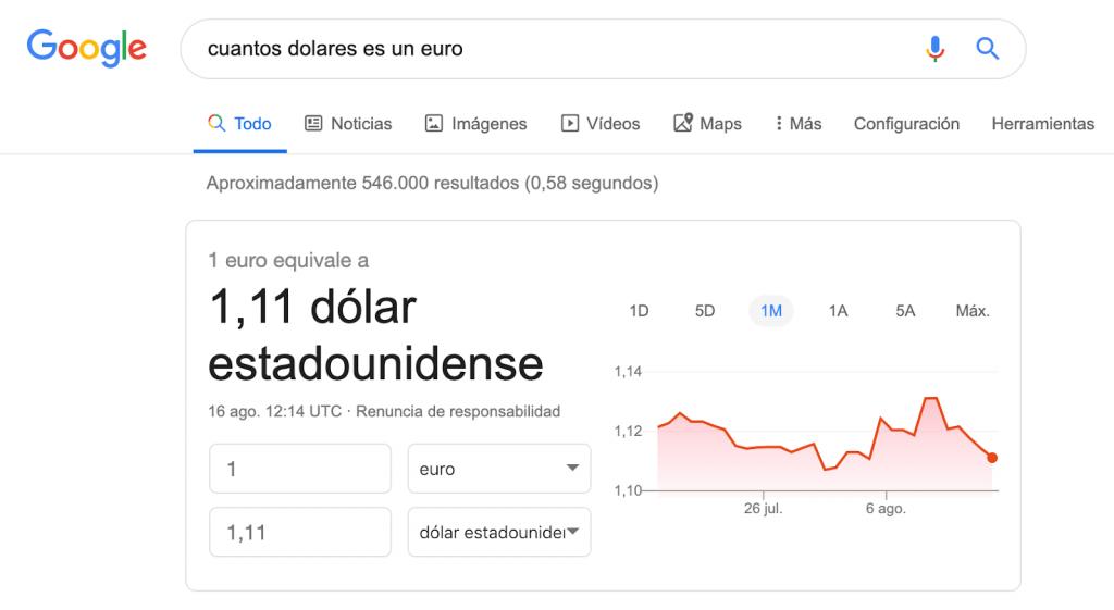 Cuántos dólares es un euro